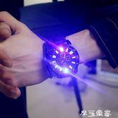 手錶韓版夜光電子時尚led發光潮流學生運動男女情侶硅膠果凍手錶 摩可美家