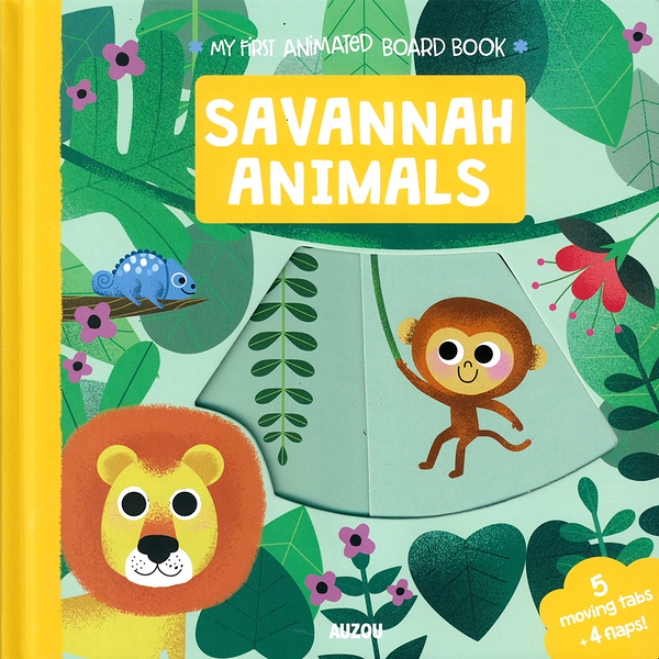 My First Animated Board Book:Savannah Animals 我的第一本推拉小書:草原動物篇