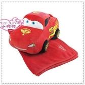 ♥小花花日本精品♥Hello Kitty CARS 汽車總動員 閃電麥坤抱枕 毯子 冷氣毯 12316908