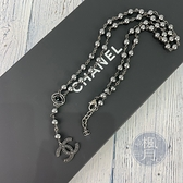 BRAND楓月 CHANEL 香奈兒 A15/C 黑雙C珍珠項鍊 LOGO 單圈 雙圈 首飾 配飾 配件 飾品 飾物