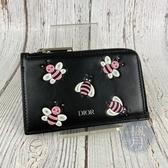 BRAND楓月 CHRISTIAN DIOR 迪奧 KAWS聯名 粉色蜜蜂 拉鍊 卡夾 悠遊卡夾 信用卡夾 零錢包