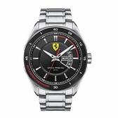 【Ferrari 法拉利】Formula Italia速度感經典黑面內圈鋼帶腕錶-質感黑/FA0830189/台灣總代理享兩年保固