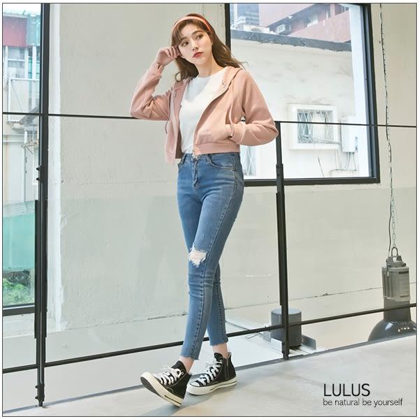 LULUS-C圈圈拉鍊短版連帽外套-5色  現【03100217】
