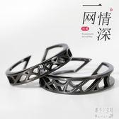 情侶戒指一對純銀網戒情侶款小眾設計冷淡風對戒情人節禮物 JY5438【潘小丫女鞋】