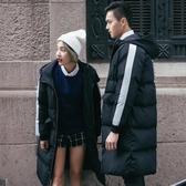 情侶羽絨服中長款情侶韓版2019秋冬新款加厚棉服男女修身寬鬆外套