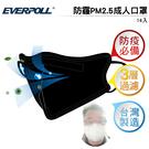 EVERPOLL 防霾PM2.5成人口罩(14入) 黑 CNS認證