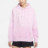 Nike Nsw Icn Clsh Hoody Flc OS 女款 粉 連帽 棉質 長袖 DC0653-676