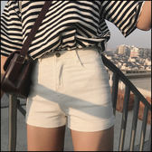 5天出貨★高腰捲邊短褲★ifairies【47098】