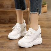 【降價兩天】內增高10cm小白鞋女2019透氣夏季坡跟百搭厚底網面運動鞋顯瘦女鞋