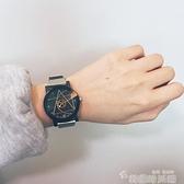 網紅新概念黑科技手錶男女學生韓版簡約潮流ulzzang創意個性轉盤 韓國時尚週 免運