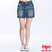 BOBSON 女款蕾絲繡花牛仔短裙(D092-53)