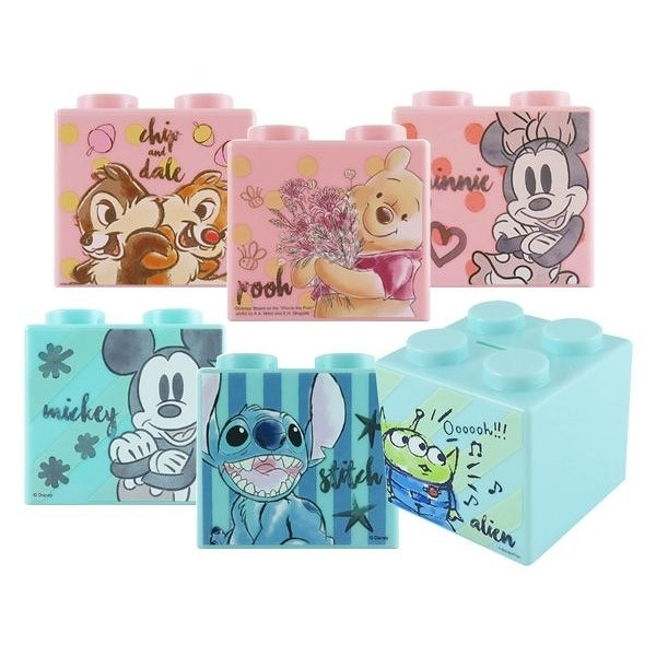 Disney 迪士尼 積木造型存錢筒(1入) 款式可選【小三美日】