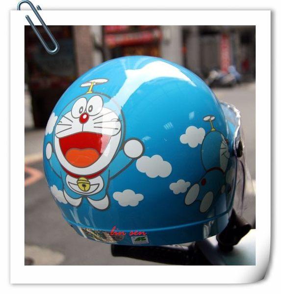 哆啦A夢安全帽,兒童安全帽,K856,K857,多#1/藍