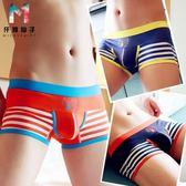 青年男士內褲平角性感個性韓國潮可愛卡通低腰四角低腰全褲頭