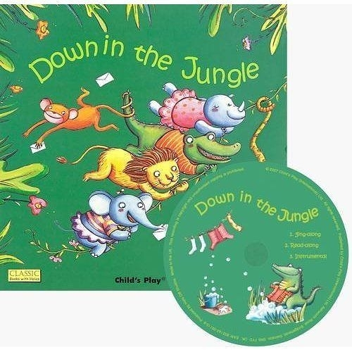 Classic Books With Holes:Down In the Jungle (With CD) 叢林歌舞派對 童謠洞洞CD故事書