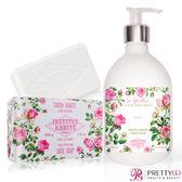 Institut Karite Paris 巴黎乳油木 玫瑰花園香氛液體皂(500ml)+玫瑰手工皂(200g)-公司貨