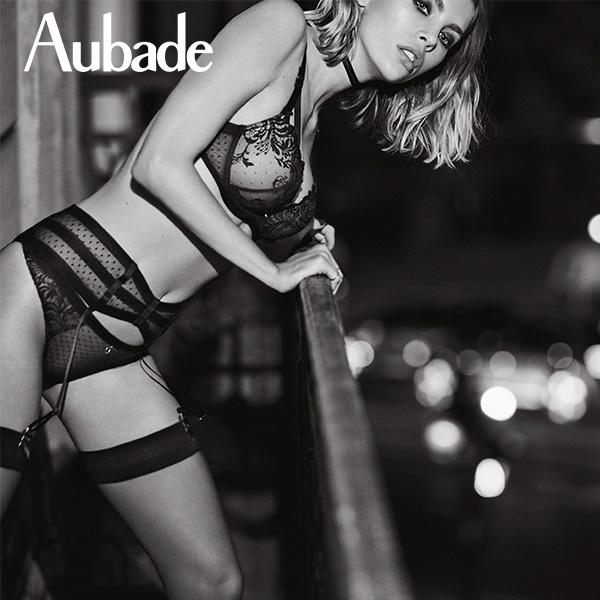 Aubade-激情女人M-L性感蕾絲平口褲(黑)MI
