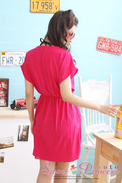 泳衣配件  深V款比基尼外搭罩衫 -  戀上海邊(玫) -沁甜美姬