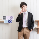 時尚窄版 8CM條紋拉鍊領帶【Sebiro西米羅男女套裝制服】047000002