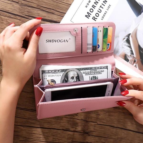 女士新款錢包 石頭紋女包 亮皮歐美潮女士長款簡約手拿包 學生票夾 長款手拿包女 女生手抓包