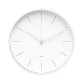 LOVEL 20cm簡約鋁框時鐘-冷冽白(C7234-WH)