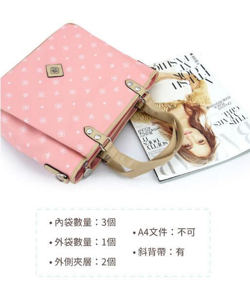 【CUMAR女包】LOGO多口袋櫻花手提2WAY包-粉色