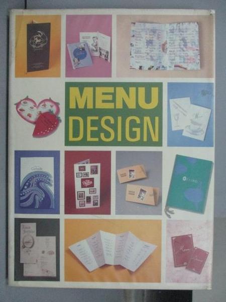 【書寶二手書T5/設計_PMA】MENU Design