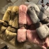 店長推薦 2018秋冬季仿狐貍毛皮草馬甲女保暖顯瘦短款背心時尚外套坎肩反季
