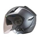 【東門城】ZEUS ZS612A AD4 (消光灰銀) 半罩式安全帽 雙鏡片