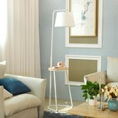 帶茶幾的落地燈客廳臥室沙發床頭置物北歐風簡約現代實木立式台燈