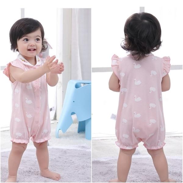 短袖連身衣 包屁衣連身裝 棉質嬰兒服 兔裝 寶寶童裝 NT4237 好娃娃