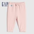 Gap嬰兒 保暖仿羊羔絨鬆緊休閒長褲 656204-淡粉色