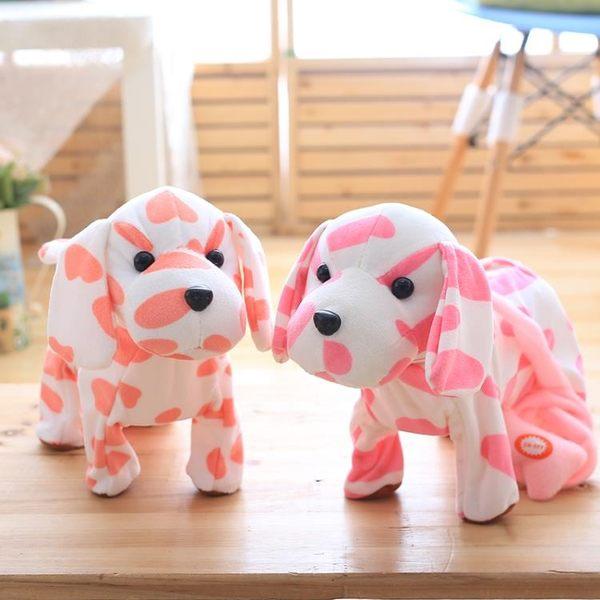 新年跨年鉅惠電動音樂斑點狗公仔毛絨玩具會唱歌狗狗玩偶六一兒童節生日禮物