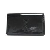 SAINT LAURENT YSL 聖羅蘭 黑色漆皮Logo縫線手拿包 晚宴包 BRAND OFF