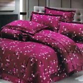 浪漫來襲 雙人加大鋪棉床罩組(6x6.2呎)六件式(100%純棉)紫紅色[艾莉絲-貝倫]台灣製T6H-KF2589-RD-B