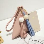 三角包零錢包春夏季新款韓版流蘇手拿包手機包手提包秋可愛小包包 黛尼時尚精品