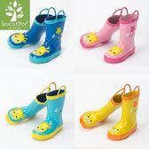 兒童雨鞋男女童可愛防滑小孩雨靴中大童膠鞋水鞋【聚寶屋】