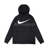 Nike 長袖T恤 Therma Hoodie 黑 白 男款 帽T 運動休閒 【ACS】 CU6240-010