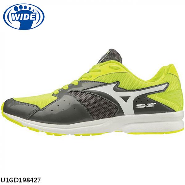 Mizuno Sonic Rush 2 [U1GD198427] 男鞋 運動 休閒 慢跑 馬拉松 輕量 寬楦 美津濃 黃