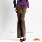 BRAPPERS 女款 新美腳l二代系列-彈性條絨小喇叭褲-綠
