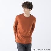 【GIORDANO】 男裝純棉厚磅口袋T恤 - 02 薑餅棕