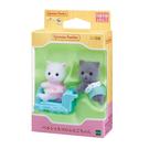 日本 EPOCH森林家族 波斯貓雙胞胎 白灰 EP14056 原廠公司貨