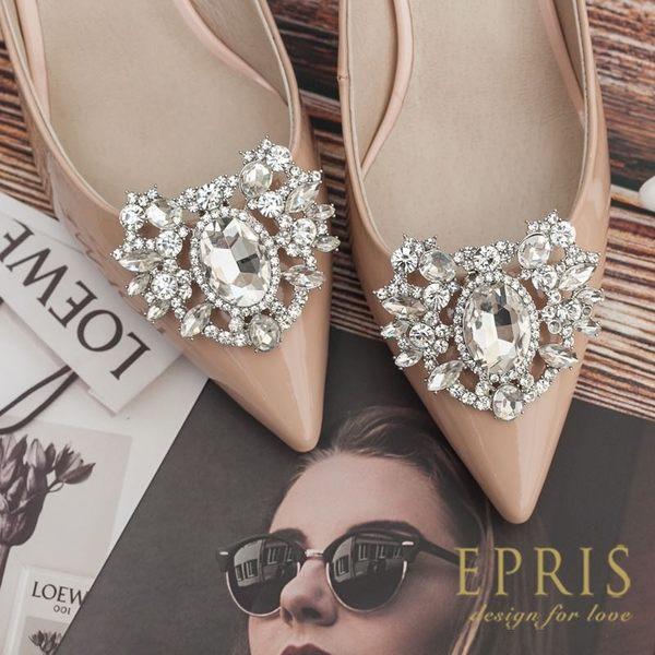 現貨 韓國製造  牛皮尖頭鞋漆皮細跟鞋 22-26 EPRIS艾佩絲-粉裸色