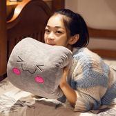 暖手抱枕 卡通抱枕龍貓暖手捂筒小毛絨玩具插手捂女生公仔韓國情侶布偶毛毯 交換禮物