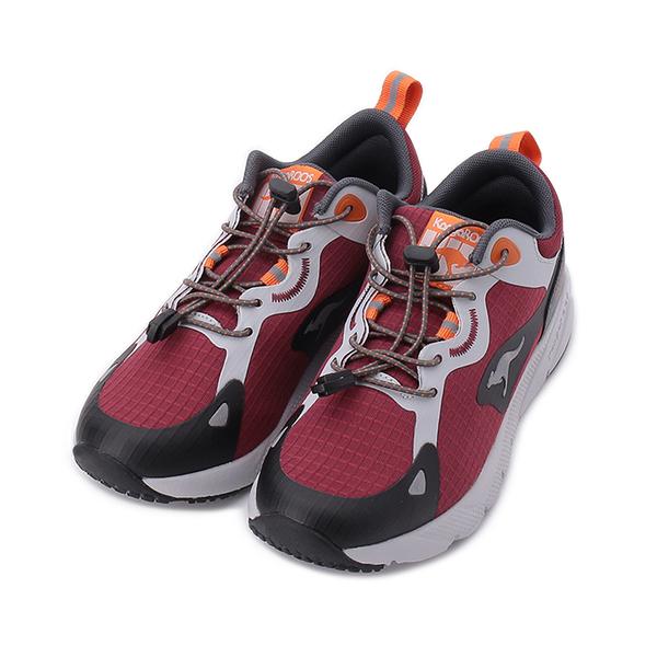 KANGAROOS ZEPHYR 超輕量慢跑鞋 酒紅灰 KW11422 女鞋