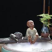 魚缸造景 飾品  水景搭配魚缸裝飾品配件大小流水噴泉陶瓷擺件假山霧化加濕器 玩趣3C