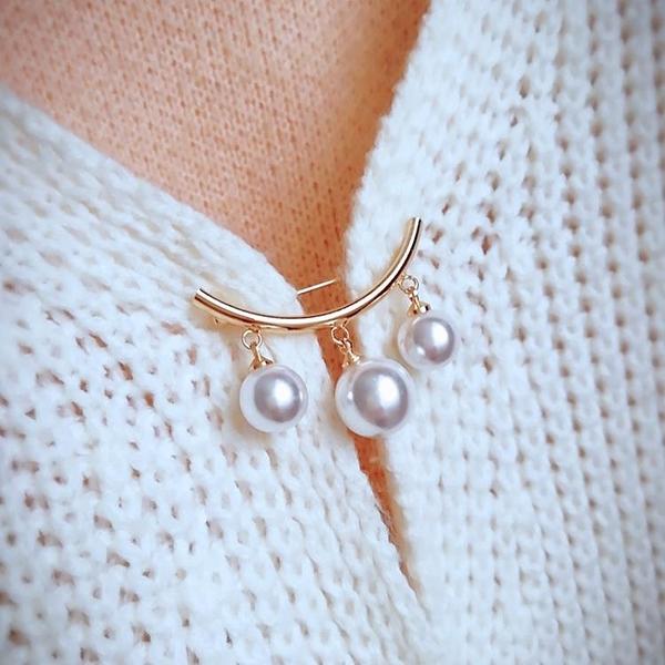 珍珠胸針胸花防走光扣針