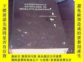 二手書博民逛書店ACCEPTANCE罕見SAMPLING IN QUALITY CONTROL:質量控制中的抽樣驗收(英文書)
