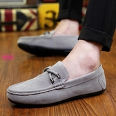 YOYO 懶人鞋 豆豆鞋 一腳蹬 休閒皮鞋