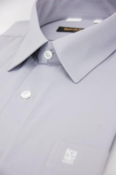 【金‧安德森】灰色吸排長袖襯衫
